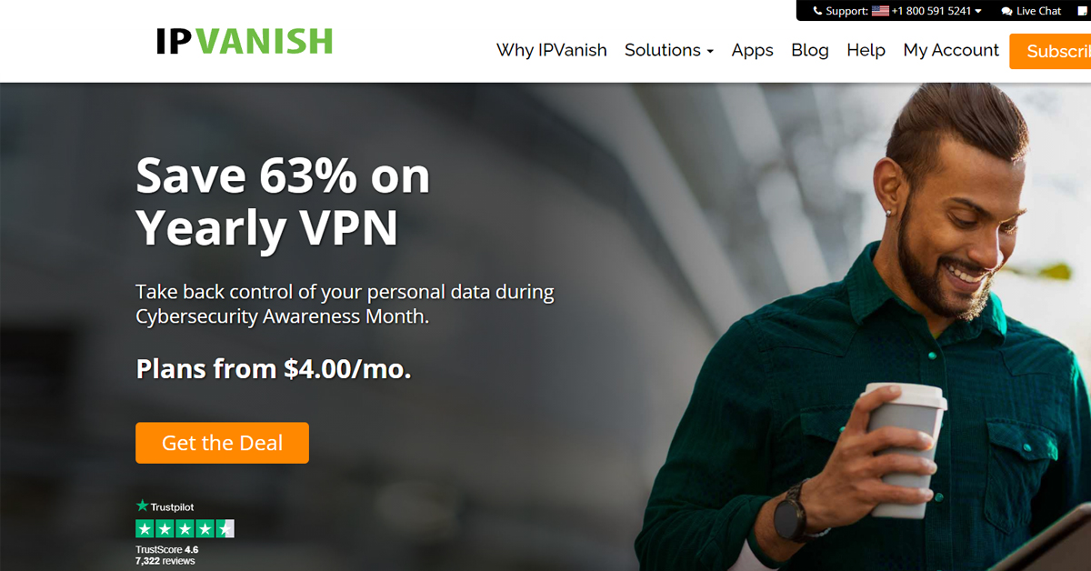 IPVanish - Take back control of your personal data during Cybersecurity