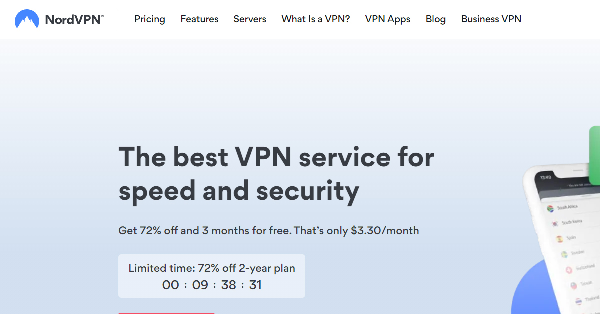 NordVPN - The best VPN service for speed and security